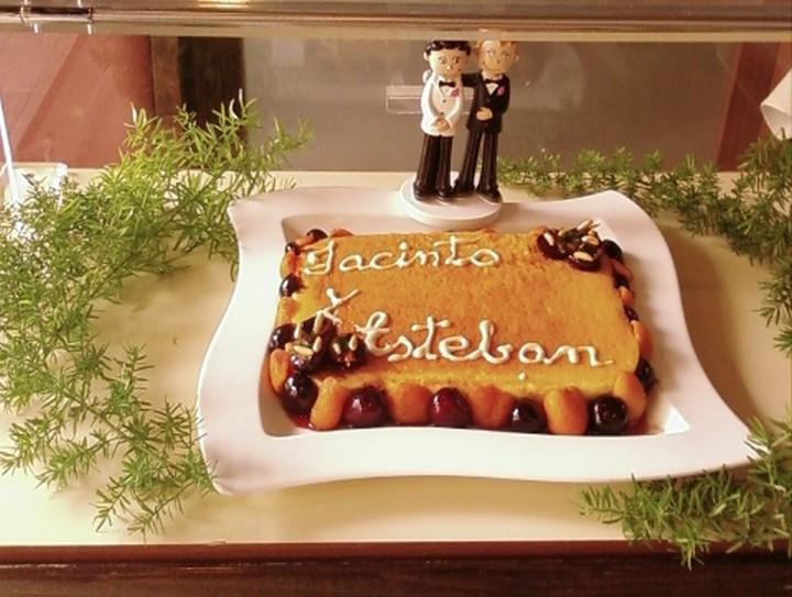 Tarta de queso encargada expresamente para una boda